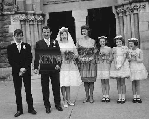 November 1964; A photo taken at the Lyons/O'Grady Wedding which took place at St James' Church in Killorglin.