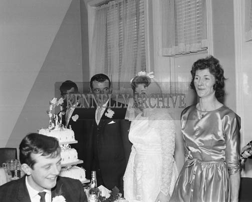 November 1964; A photo taken at the Lyons/O'Grady wedding reception.