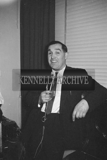 16th January 1964; A man enjoying himself at the Lixnaw Social in the Meadowlands Hotel, Tralee.