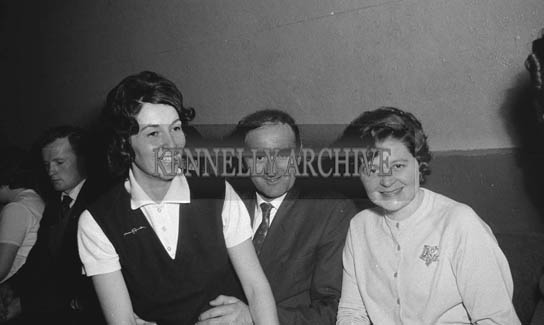 17th January 1964; People enjoying themselves at a dance in the Ashe Hall in Tralee. Music at the dance was provided by the Donie Collins Band.