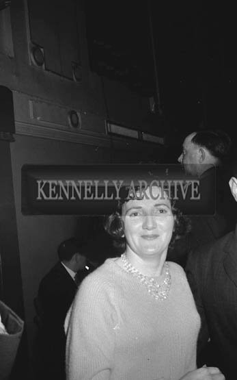 17th January 1964; A woman enjoying herself at a dance in the Ashe Hall in Tralee. Music at the dance was provided by the Donie Collins Band.