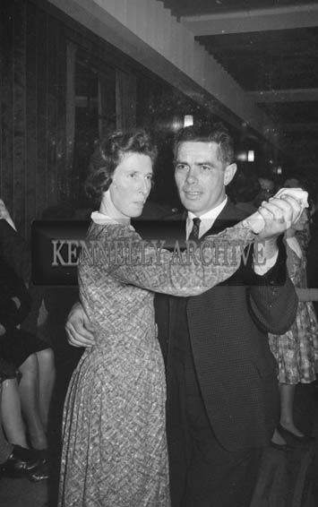 11th November 1964; People enjoying themselves at a dance in Ballyheigue. Music at the dance was provided by the Mick Delahunty Orchestra.