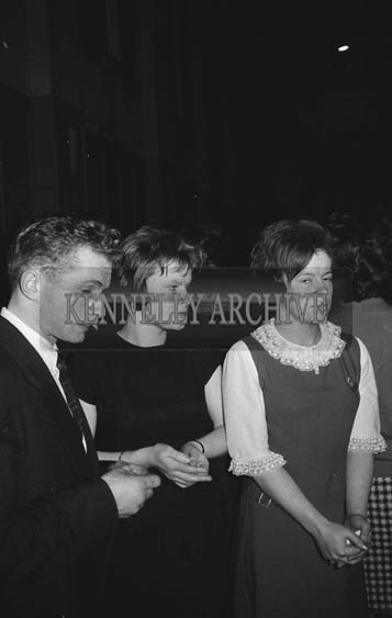 31st January 1964; A photo of people enjoying themselves at a dance in the CYMS, Tralee.