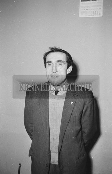 January 1964; A photo of a man.