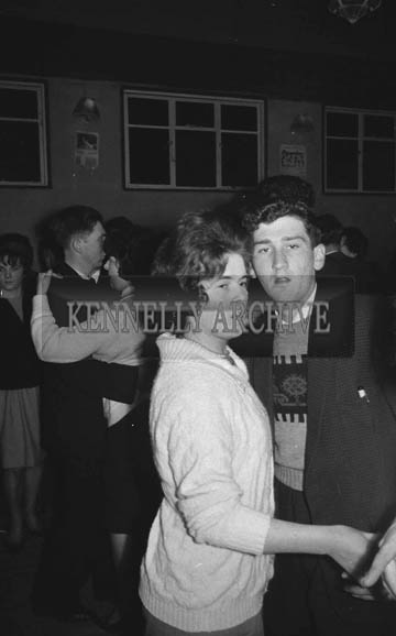 February 1964; A photo of people enjoying themselves at a dance in Ballymacelligott.