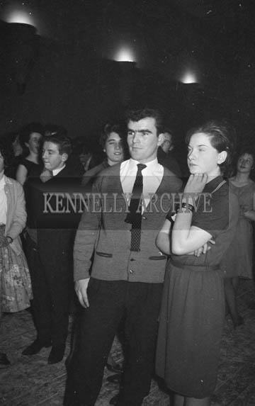 2nd February 1964; Kerry footballer Derry O'Shea at a dance in The Theatre Royal, Tralee.