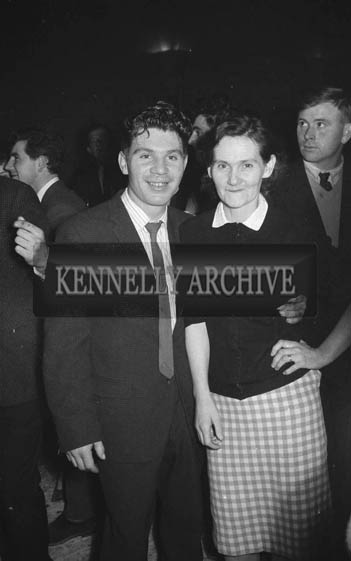 9th February 1964; A photo of people enjoying themselves at a dance in The Theatre Royal, Tralee.