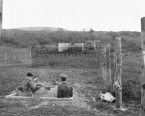 November 1964; A photo of FCA Shooting exercises in Ballydunlea, Tralee.