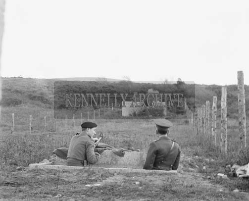 November 1964; A photo of FCA Shooting exercises in Ballydunlea, Tralee.