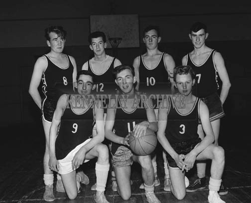November 1964; A team who competed in the Brass Rail Trophy Basketball Blitz in the CYMS in Tralee.