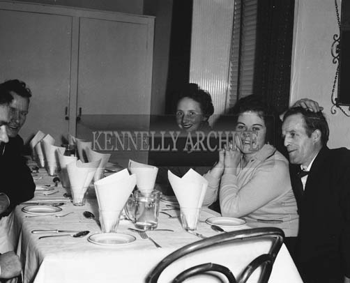 14th November 1964; People enjoying themselves at the Denny's Social in the Meadowlands Hotel, Tralee.