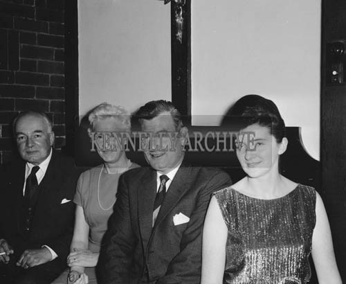 November 1964; Florence O'Connor (centre) with a group at the Festival of Kerry Dinner in Benner's Hotel, Tralee.