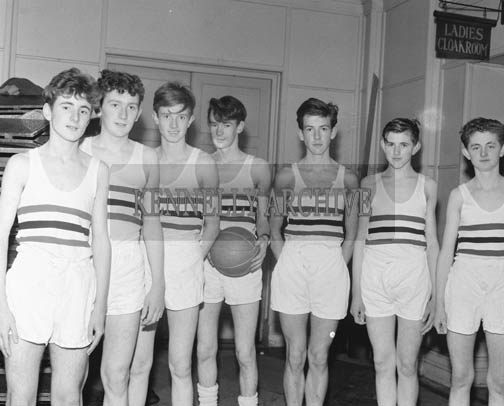 15th November 1964; Mungret College Limerick under 18 Basketball Team who were defeated by Tralee CBS 62-25 in the first round of the Munster Schools & Colleges Basketball Competition in the CYMS, Tralee.