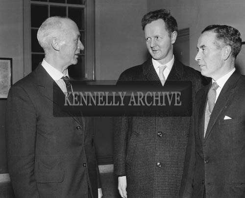 November 1964; A photo of Mr Kelliher of Tralee Chamber of Commerce with colleagues.