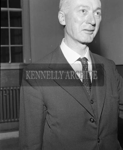November 1964; A photo of Mr Kelliher of Tralee Chamber of Commerce.