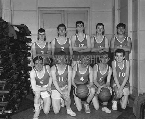 17th November 1964; A photo of a basketball team in the CYMS, Tralee.