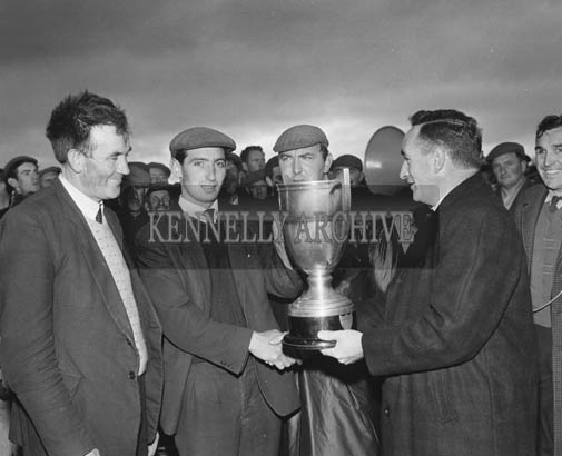 18th November 1964; Presenting the North Kerry Cup in Ballyduff.