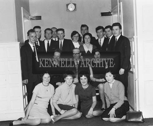 21st November 1964; A photo taken at the Ballyduff Social in the Meadowlands Hotel, Tralee. Nearly 200 people attended.