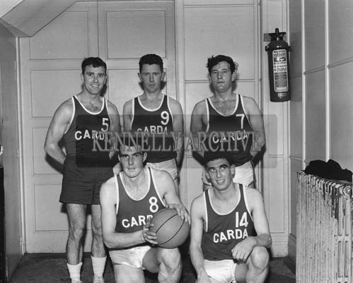 22nd November 1964; The Dublin Garda Basketball Team, who were beaten by Tralee FCA in the final of the Brass Rail Blitz in the CYMS, Tralee.