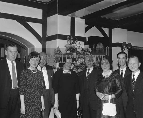 22nd November 1964; Emmett Kennelly (far right) at the Chemist's Dinner in Benner's Hotel in Tralee.