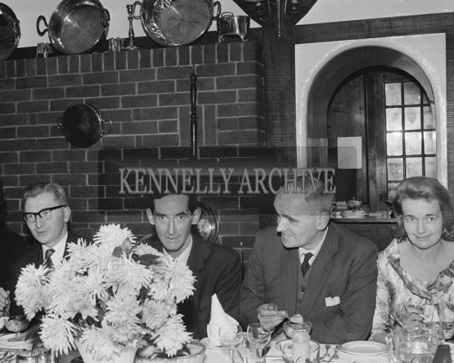 22nd November 1964; A photo taken at the Chemist's Dinner in Benner's Hotel in Tralee.