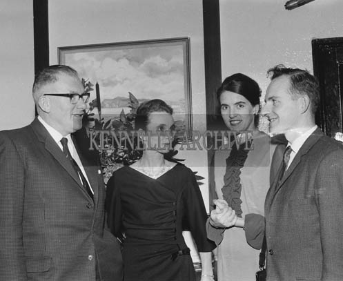 22nd November 1964; A photo taken at the Chemist's Dinner in Benner's Hotel in Tralee. From left: Ted and Mary Fitzmaurice, Marion and Ted Kennelly.