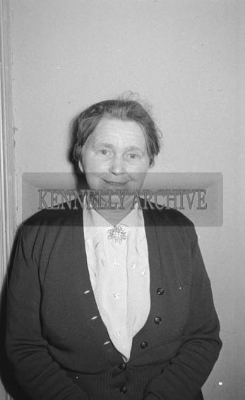 February 1964; A studio photo of Catherine Kenny, Kilshannig.