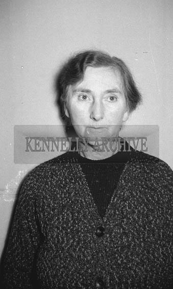 February 1964; A studio photo of a woman.