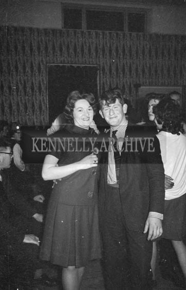 11th February 1964; A photo of people enjoying themselves at the Ardfert Creamery Social in the Hotel Manhattan, Tralee.