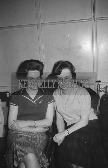 11th February 1964; A photo of people enjoying themselves at a dance in the CYMS, Tralee.