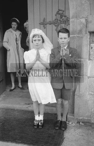22nd April 1964; A photo taken on Confirmation Day in Firies.