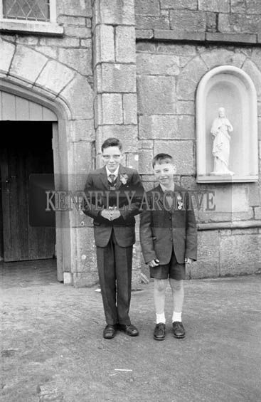 22nd April 1964; A photo taken on Confirmation Day in Abbeydorney.