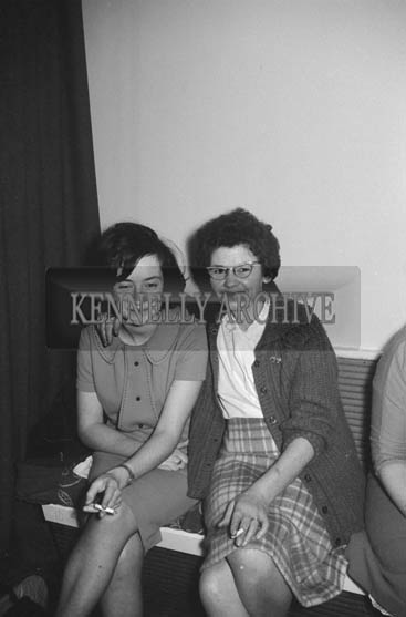 14th November 1964; People enjoy themselves at the Denny's Social in the Meadowlands Hotel, Tralee.