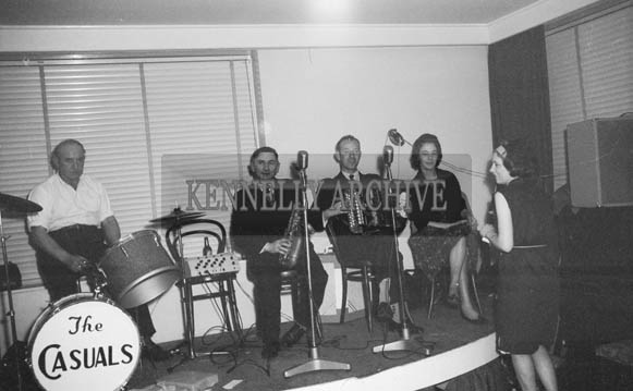 14th November 1964; The Casuals Dance Band perform at the Denny's Social in the Meadowlands Hotel, Tralee.