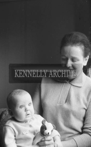 November 1964; A Studio Photo of Nora Treacy, St Brendan's Park, with her son Mark.