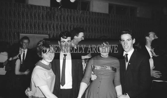21st November 1964; People enjoying themselves at the Kingdom Tubes Social in the Hotel Manhattan, Tralee.
