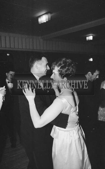 24th November 1964; Brian Sheehy at the Kerry Bankers Dress Dance in the White Sands Hotel, Ballyheigue. Music was by the Troubadours Dance Band, Tralee.