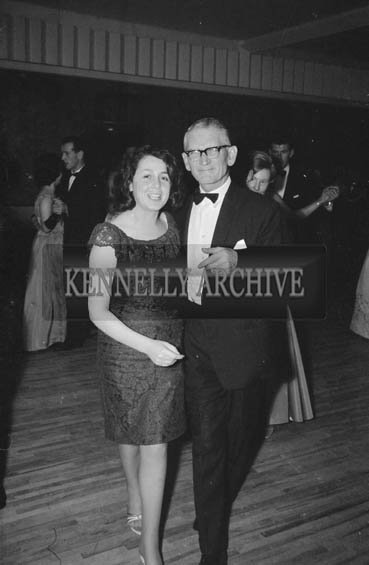 24th November 1964; People enjoying themselves at the Kerry Banker's Dress Dance in the White Sands Hotel, Ballyheigue. Music was by the Troubadours Dance Band, Tralee.