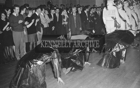 1st February 1964; A photo of the 'Beatles' at the St. Brigid's Night Ball in Milltown.
