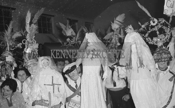 1st February 1964; A photo of the 'Biddies' at the St. Brigid's Night Ball in Milltown.