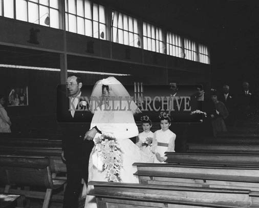 25th November 1964; A photo taken at the wedding of Robert Gleasure, Ballyroe, Tralee, to Annie May Donnegan, Causeway, in the Church of the Holy Rosary, Limerick. Both Robert and Annie May were well known members of the North Kerry Farming Community.