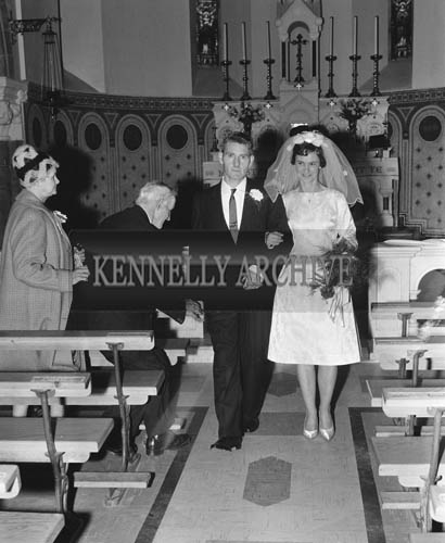 24th November 1964; A photo taken at the Quilter/O'Halloran wedding in Lixnaw.