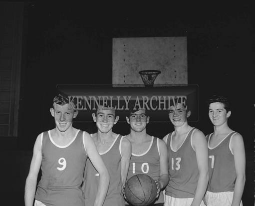 November 1964; A photo of a basketball team.