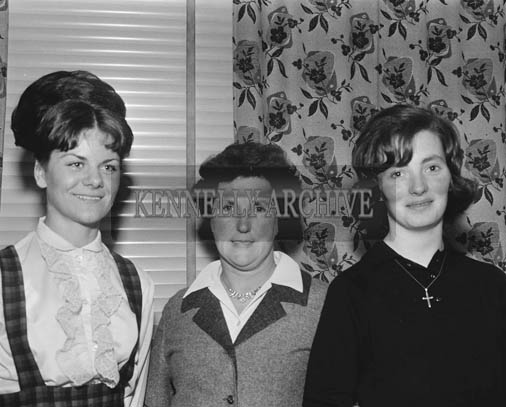 November 1964; A photo of a group of people at a social in the Meadowlands Hotel, Tralee.