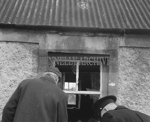 February 1964; Garda Kavanagh at Dan Foley's house in Raemore where a shot was fired through the window.