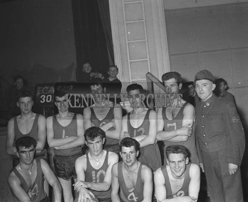 24th February 1964; A photo of the FCA Basketball Team in the CYMS Tralee.
