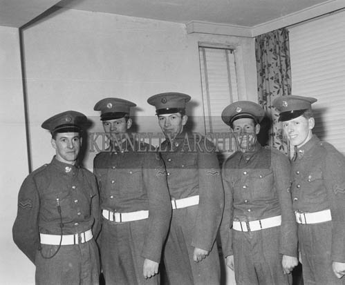 24th February 1964; A photo of five new FCA Recruits.
