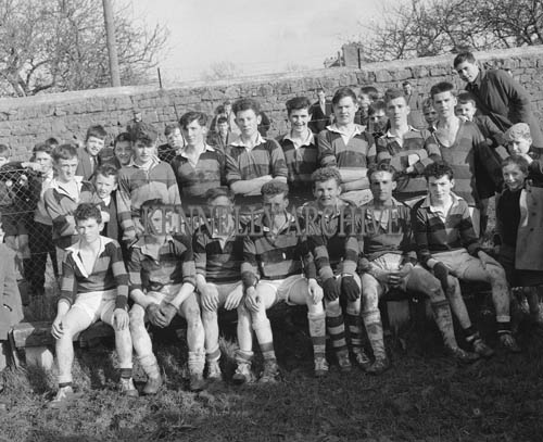1st March 1964; A photo of St. Patrick's Castleisland team who were defeated by St. Micheal's Listowel in the first round of the Kerry Colleges Championship (The Dunloe Cup).