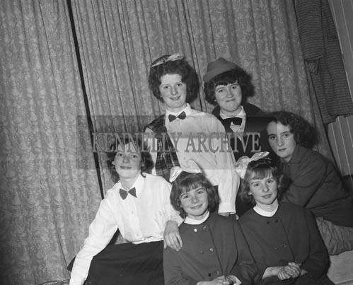 March 1964; A photo of a group of girls.