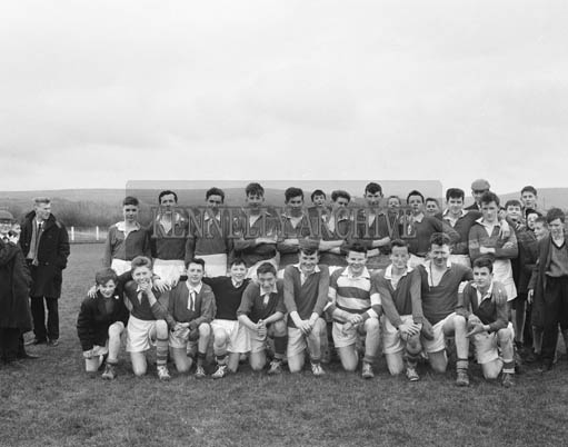 1st March 1964; A photo of a team in the first round of the Kerry Colleges Football Championship (The Dunloe Cup).